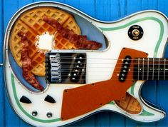 """Girl Brand Guitar """"Waffle Girl"""" I love these guitars , they were all the same shape but all different."""