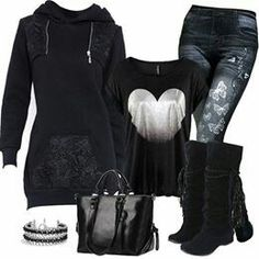 ❤ this casual look Casual Outfits, Cute Outfits, Fashion Outfits, Womens Fashion, Fashion Trends, Fall Winter Outfits, Winter Fashion, Winter Wear, Winter Boots