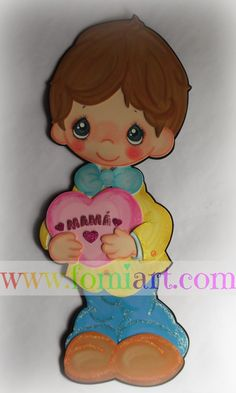 Fomiart: Mayo Precious moments Precious Moments, Paper Piecing, Smurfs, In This Moment, Dolls, Crafts, Painting, Decor, Craft