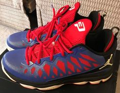 dfbc79adb63d 2012 NIKE AIR JORDAN CP3.VI Men Blue Red Black Chris Paul SZ