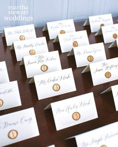 Go Inside Margo & Me's Jenny Bernheim's Dreamy Wedding in France Guests found their seats with the help of calligraphed escort cards adorned with wax seals.Guests found their seats with the help of calligraphed escort cards adorned with wax seals. Wedding Details Card, Card Table Wedding, Seating Chart Wedding, Wedding Cards, Wedding Escort Card Ideas, Seating Charts, Table Seating Cards, Elegant Wedding Programs, Wedding Ideas