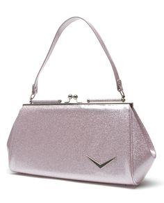 Lux de Ville Mini Getaway Kiss Lock Baby Pink Sparkle