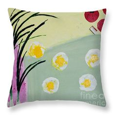 This throw pillow is available in many designs and colors. For ordering a present for yourself or a friend/loved one pls go to http://noa-yerushalmi.artistwebsites.com/products/fresh-eggs-noa-yerushalmi-throw-pillow-14-14.html