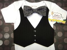 Baby Boy Clothes - 1st Birthday Outfit Boy - Baby Wedding Outfit - Baby First Birthday Vest and Bow Tie Bodysuit by NoahsBoytiques on Etsy https://www.etsy.com/listing/158087356/baby-boy-clothes-1st-birthday-outfit-boy