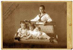 Sandor Marai con i fratelli Géza, Gabor e Kato