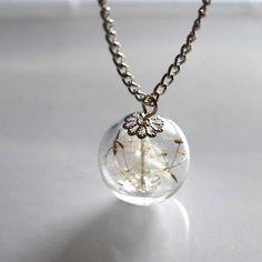 Dandelion make a wish necklace