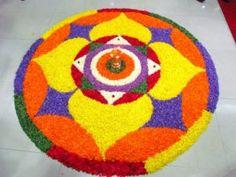 pookalam Onam Pookalam Design, Onam Wishes, Latest Rangoli, Kids Rugs, House Design, Nice, Simple, Flowers, Pattern