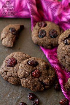 Chocolate Cranberry Breakfast Cookies | vegan recipe on FamilyFreshCooking.com