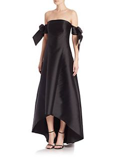 Sachin & Babi Noir - Natalia Off-The-Shoulder Gown