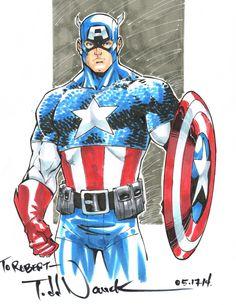 Captain America by Todd Nauck - Dallas Comic Con 2014