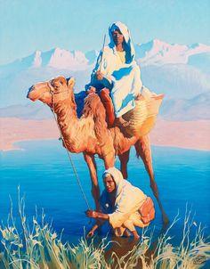 Adam Styka (Polish, 1890-1959). Camel Driver