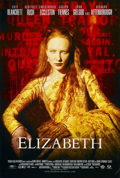 ELIZABETH: A biography of the early years of the reign of Elizabeth I of England and her difficult task of learning what is necessary to be a monarch. Cate Blanchett in the starring role is impressive and absolutely magnificent! #cinema #movie