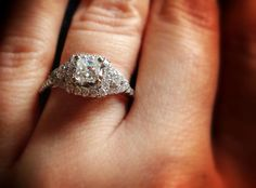 1 carat Diamond Engagement Ring Appraised. Layaway.  by Mymink, $950.00