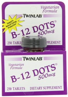 Good source of extra Twinlab Dots Vitamin 250 Tablets. Good price, too. Bariatric Sleeve, Vegan Vitamins, Vegan Books, How To Become Vegan, Vitamin B12, Plant Based Diet, Clean Recipes, Going Vegan