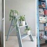 Saksı çiçeklik merdiven dekorasyon