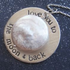 Love You To the Moon & Back Necklace by sudlow on Etsy, $46.00