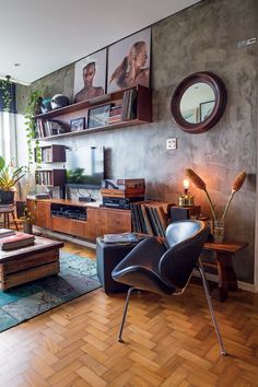Warm tones and cement walls