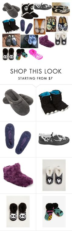 """House Slippers"" by switchback13 on Polyvore featuring Hamam, Chatties, Isotoner, Hot Topic, Disney, Vans and Torrid"