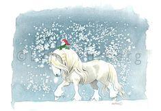 Lena Furberg illustration & konst - Tomten och hans häst