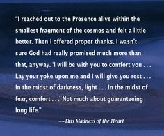 """Quote from C. L. Francisco's """"This Madness of the Heart"""""""
