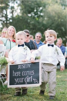 Virginia Southern Farm Wedding Ring Bearers Chalkboard
