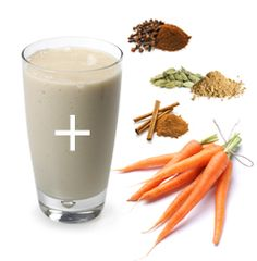 Carrot Cake Shake This weight-loss shake proves you can have your cake and eat it too. Ingredients: 2 scoops IsaLean Shake in Creamy French Vanilla 8 oz. of water cup steamed carrots Dash of cinnamon, cloves and cardamom Add ice Blend in IsaBlender Clean Eating Snacks, Healthy Eating, Isagenix Shakes, Gourmet Recipes, Healthy Recipes, Recipe For Teens, Nutritional Cleansing, Protein Shake Recipes, Protein Shakes