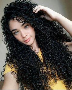 Curly Hair Styles Easy, Long Curly Hair, Natural Hair Styles, Long Hair Styles, Deep Curly, Long Natural Curls, Black Curly Hair, Dark Hair, Brown Hair