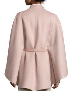 Melton Baby Cashmere Cape, Pink Fashion Beauty, Luxury Fashion, Womens Fashion, Cashmere Cape, Cape Coat, Unique Dresses, David Zyla, What To Wear, Bridal Designers