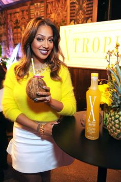 LaLa Anthony enjoying a tasty TROPIX cocktail at our Launch Party! PHOTO by: Michael Simon/startraksphoto.com Launch Party, Cocktails, Product Launch, Tasty, Women, Craft Cocktails, Cocktail, Drinks, Smoothies