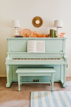 Spice up your home with a statement piece. Mint is a great color that isn't too dramatic.