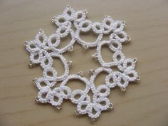 Tatting  Set of 2 Tatted Ornaments with beads by Crochettthings, $6.99