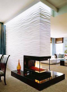 3D wallpaper #3D wallpaper for living room #wallpaper for fireplace