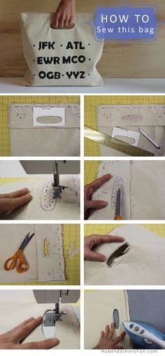 Sew In 8 Easy steps Summer Totebag. Sew In 8 Easy steps Sewing Hacks, Sewing Tutorials, Sewing Projects, Purse Patterns, Sewing Patterns, Diy Sac, Fabric Bags, Sewing Accessories, Love Sewing
