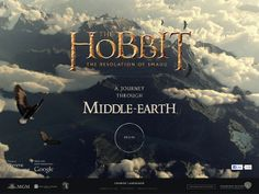 Explore the world of The Hobbit: The Desolation of Smaug with A Journey Through Middle-earth, a Chrome Experiment. Middle Earth Map, The Middle, Hobbit 2, Award Winning Websites, Web Design Awards, Desolation Of Smaug, Immersive Experience, Best Web Design, Website Design Inspiration