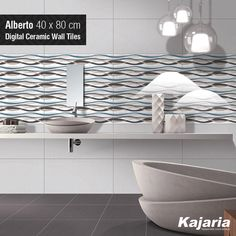Art is not a thing. It is a way of expressing yourself to the others. Alberto 40X80 cm Digital Ceramic Wall Tiles is just that and it'll leave you mesmerised. #KajariaCeramics