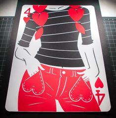 """Emmanuel Jose - """"Pepper"""" Year Week The Four of Hearts. Unique Playing Cards, Playing Cards Art, Joker Card, Paper Cutting, Cut Paper, Card Tattoo, Deck Of Cards, Card Deck, Year 6"""