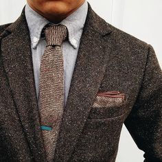 Mens Fashion For Sale Info: 4975871373 Brown Tweed Suit, Mens Tweed Suit, Tweed Suits, Mens Fashion Suits, Mens Suits, Look Man, Moda Casual, Skinny Ties, Men Style Tips