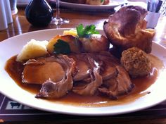 Sunday Roast Pork (served with apple sauce on the side)