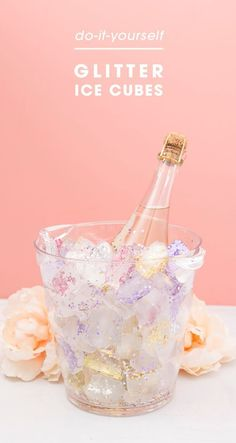 Learn How To Make Gorgeous, Glitter Ice Cubes For Chilling! Make your own glitter ice cubes to chill your bridal shower wine with! 21 Party, Festa Party, Party Time, Fancy Party, 18th Birthday Party, Unicorn Birthday Parties, Unicorn Party, Glitter Birthday, Birthday Party Ideas