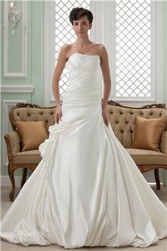 マーメイド ストラップレス チャペル 結婚式ドレス