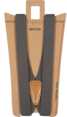 Grey Plain Braces $20.00 thestylecure.com