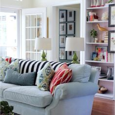 Beautiful built-ins and cozy decor!