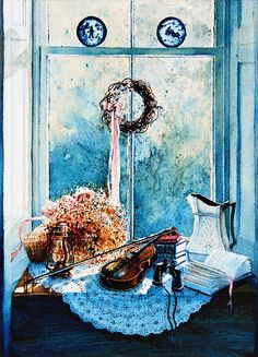 Music Insrtument Still Life Paintings And Prints By Hanne Lore Koehler