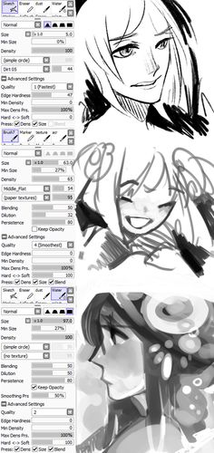 SAI Brush settings ref