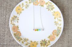 diy birthstone bar necklace
