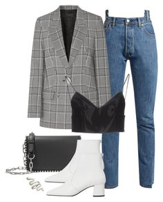"""Sin título #2005"" by anininu ❤ liked on Polyvore featuring Vetements, Alexander Wang and MANGO"