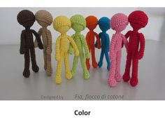 Pattern Color doll amigurumi crochet by cottonflake on Etsy