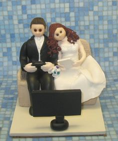 Custom Wedding Cake Topper Video Laptop Computer By Mandmclaycreations On Etsy