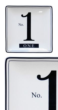 """There's something to be said for """"looking out for number one,"""" and In this case, the number one priority is enjoying your next meal in style. This ceramic plate features the slightly tongue-in-cheek """"N...  Find the Number One Ceramic Plate, as seen in the The Apothecary Collection at http://dotandbo.com/collections/holiday-boutiques-the-apothecary?utm_source=pinterest&utm_medium=organic&db_sku=113546"""