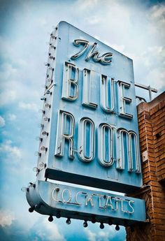 The Blue Room neon sign.